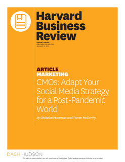 CMO's Adapt Your Social Media Strategy for a Post-Pandemic World