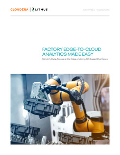 Factory Edge-to-Cloud Analytics Made Easy