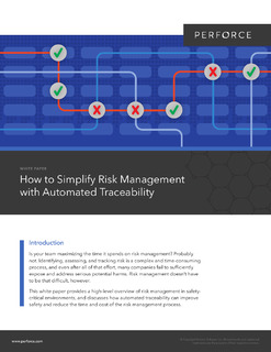 How to Simplify Risk Management with Automated Traceability