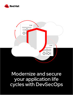 Modernize and Secure Your Application Life Cycles with DevSecOps