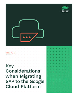Key Considerations when Migrating SAP to the Google Cloud Platform