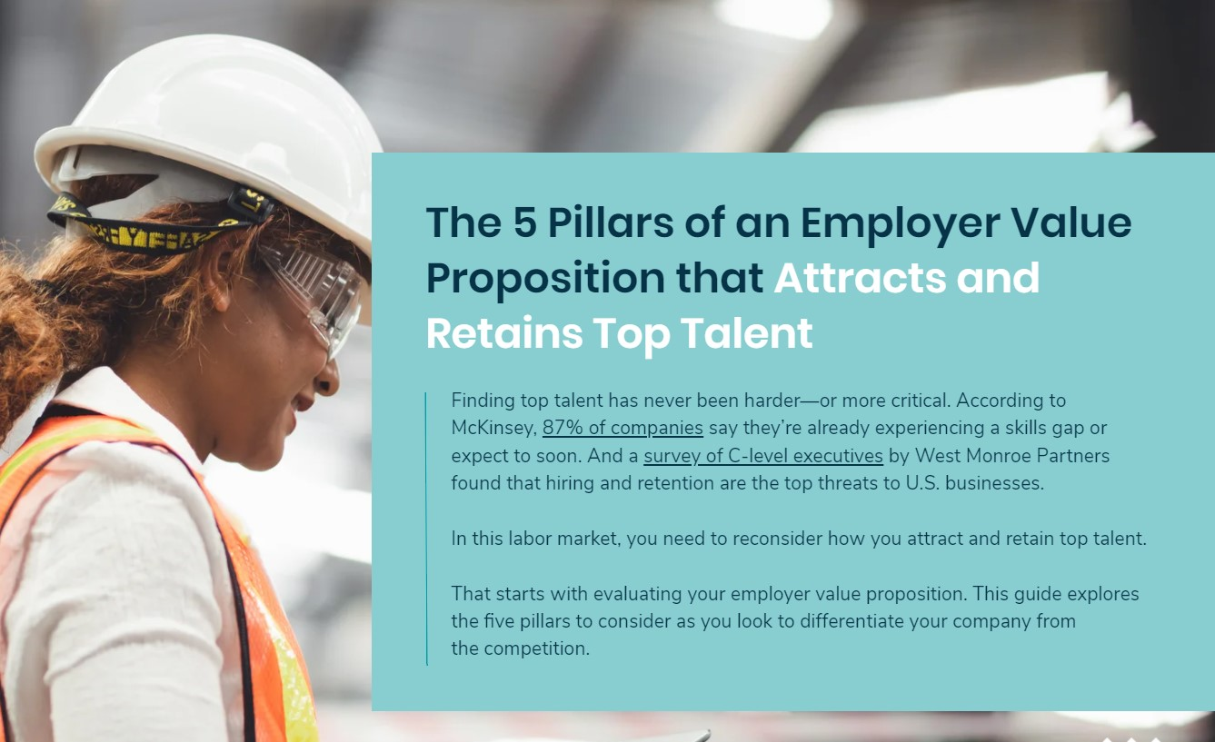 The 5 Pillars of an Employer Value Proposition that Attracts and Retains Top Talent