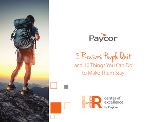 5 Reasons People Quit, 10 Ways to Make Them Stay