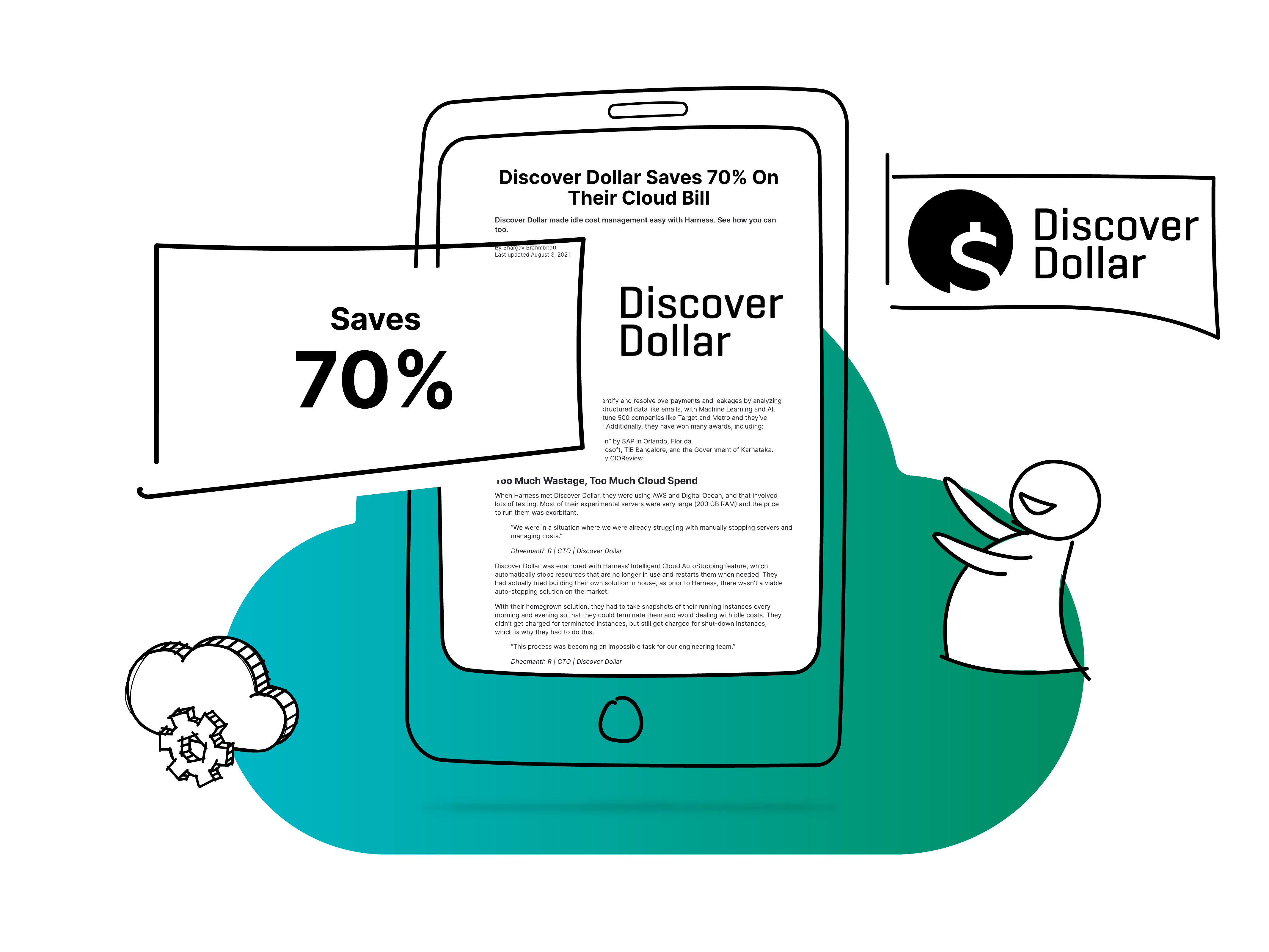 Discover Dollar Saves 70% On Their Cloud Bill