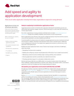 Add speed and agility to application development